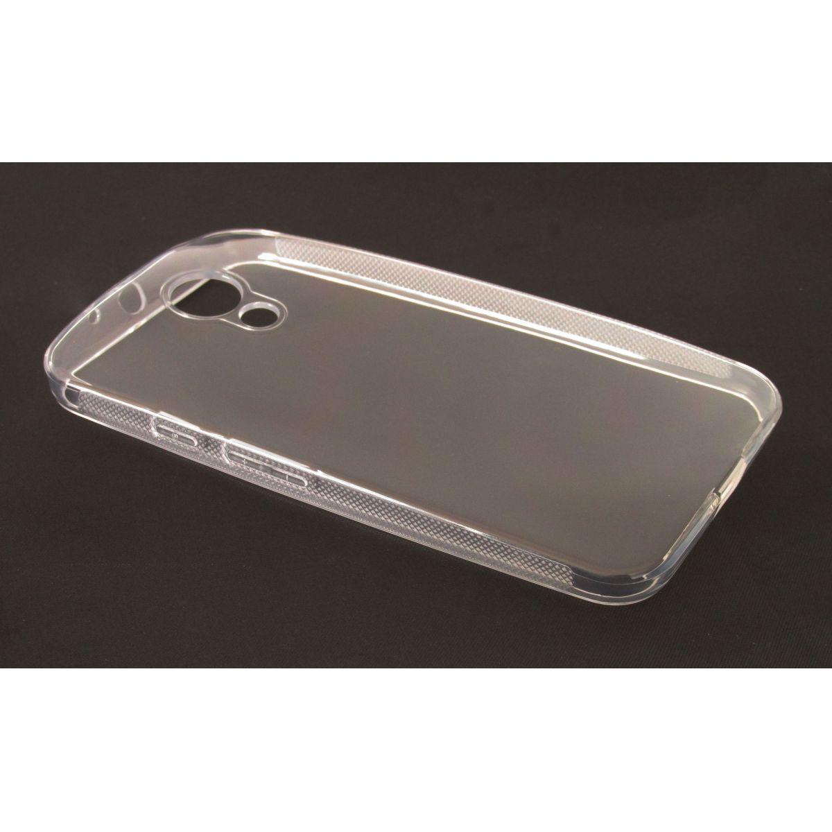 Capa TPU Transparente Motorola Moto G2 Xt1069 + Película Flexível