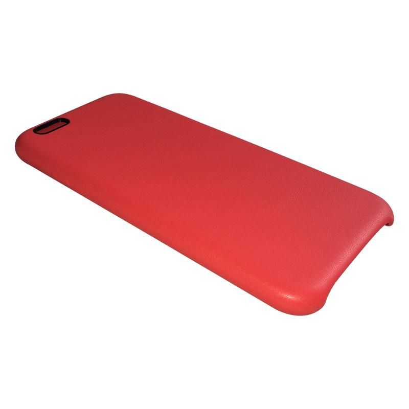 Capa de Policarbonato Revestida em Couro Apple Iphone 6 6S - Vermelha
