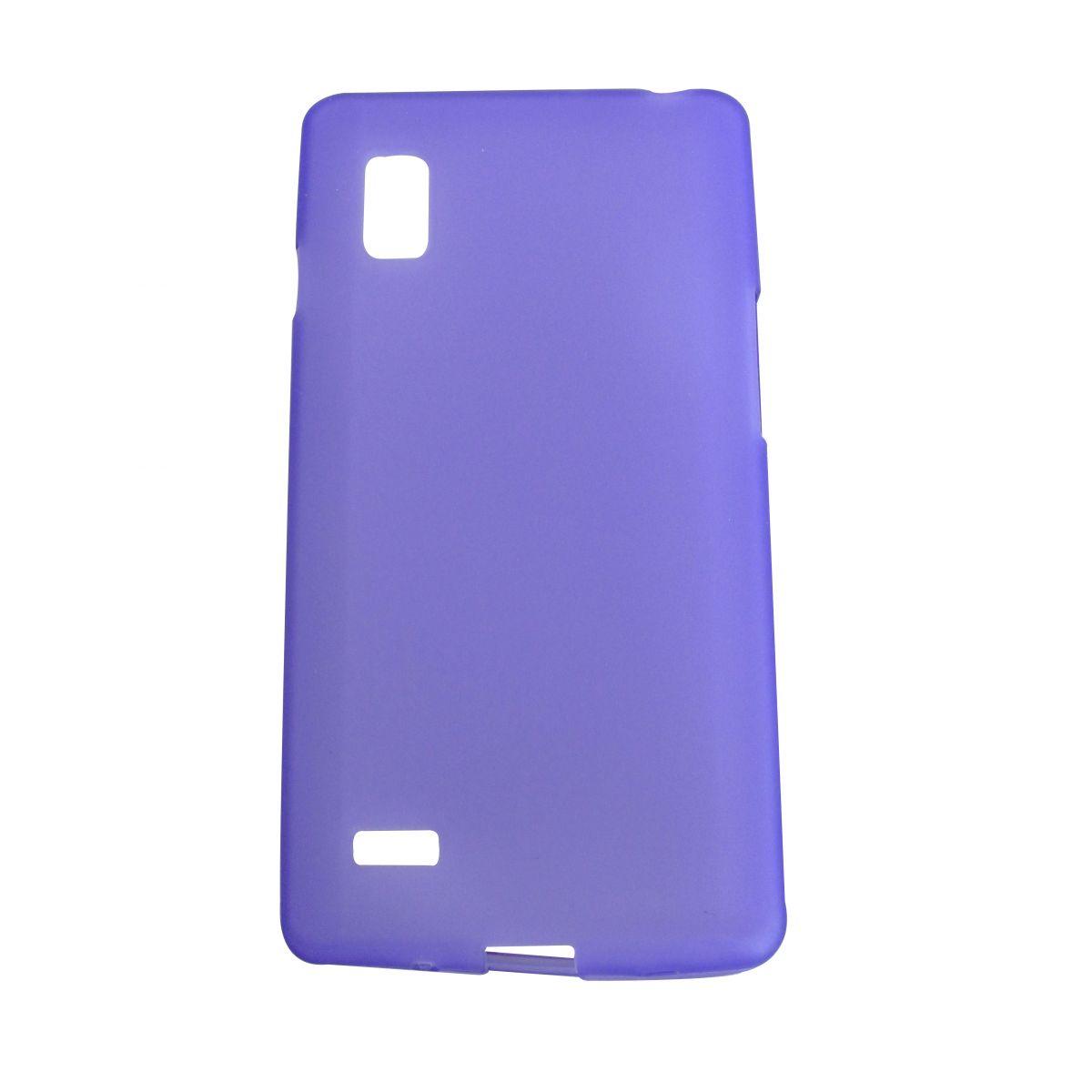 Capa TPU Roxa LG Optimus L9 P760 + Película Flexível