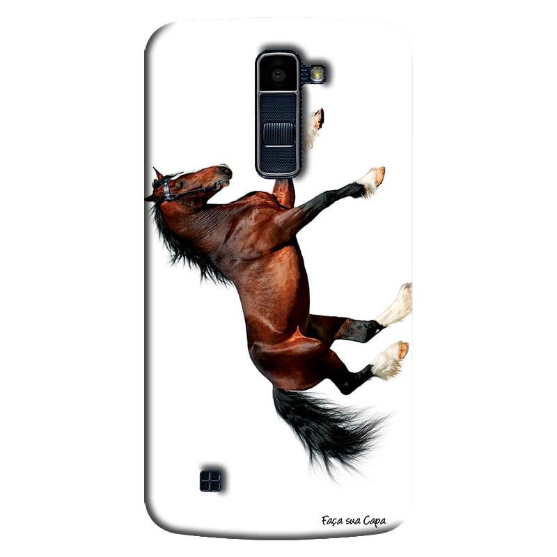 Capa Personalizada para LG K10 TV K430DSF Pets Cavalo - PE45