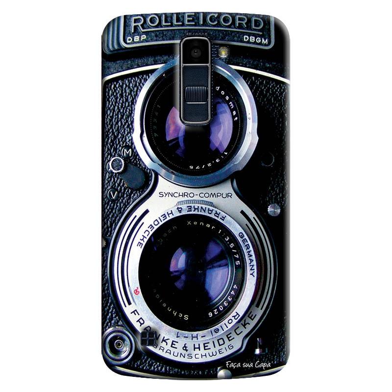 Capa Personalizada para LG K10 TV K430DSF Textura Câmera Fotográfica - TX56
