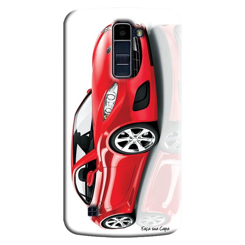 Capa Personalizada para LG K10 TV K430DSF Carro Vermelho - VL08