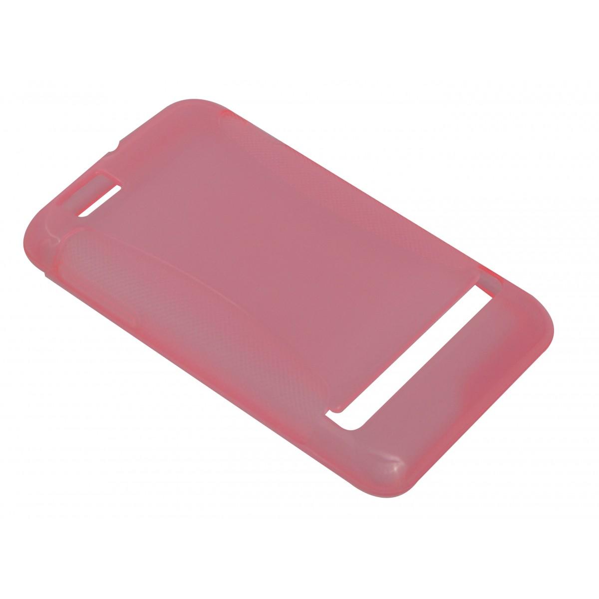 Capa de Tpu para Motorola Motosmart XT390 Dual Chip + Película Rosa
