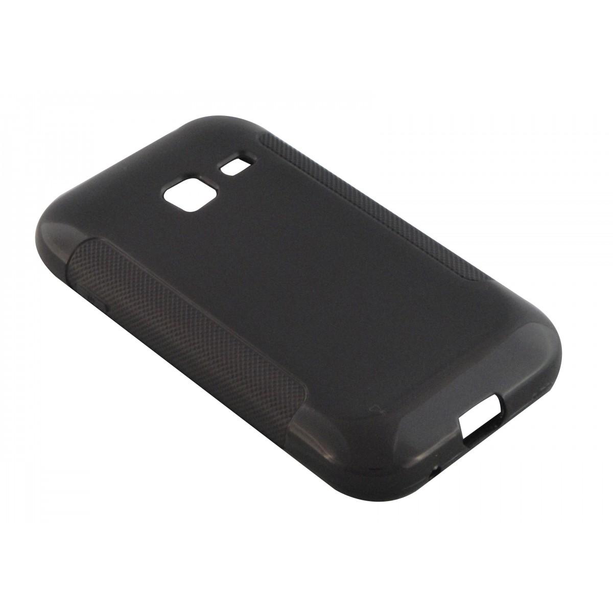 Capa TPU Grafite Samsung Galaxy Ace Duos S6802 + Película Flexível