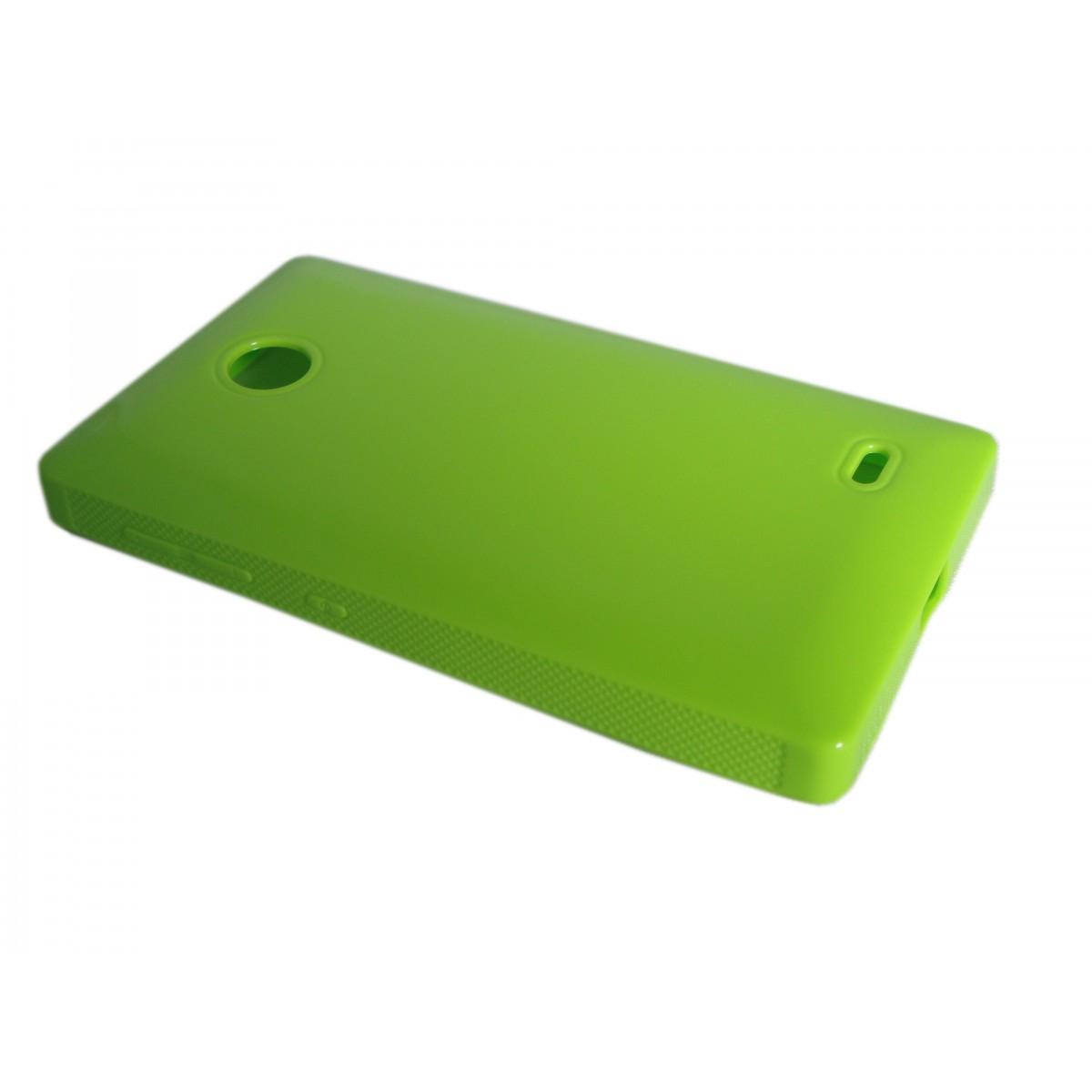 Capa TPU Verde Nokia X A110 RM980 + Película Flexível
