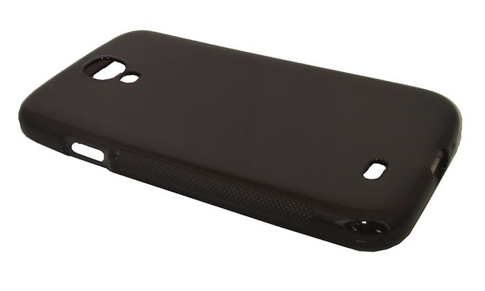 Capa TPU Grafite Samsung Galaxy S4 I9500 + Película Flexível