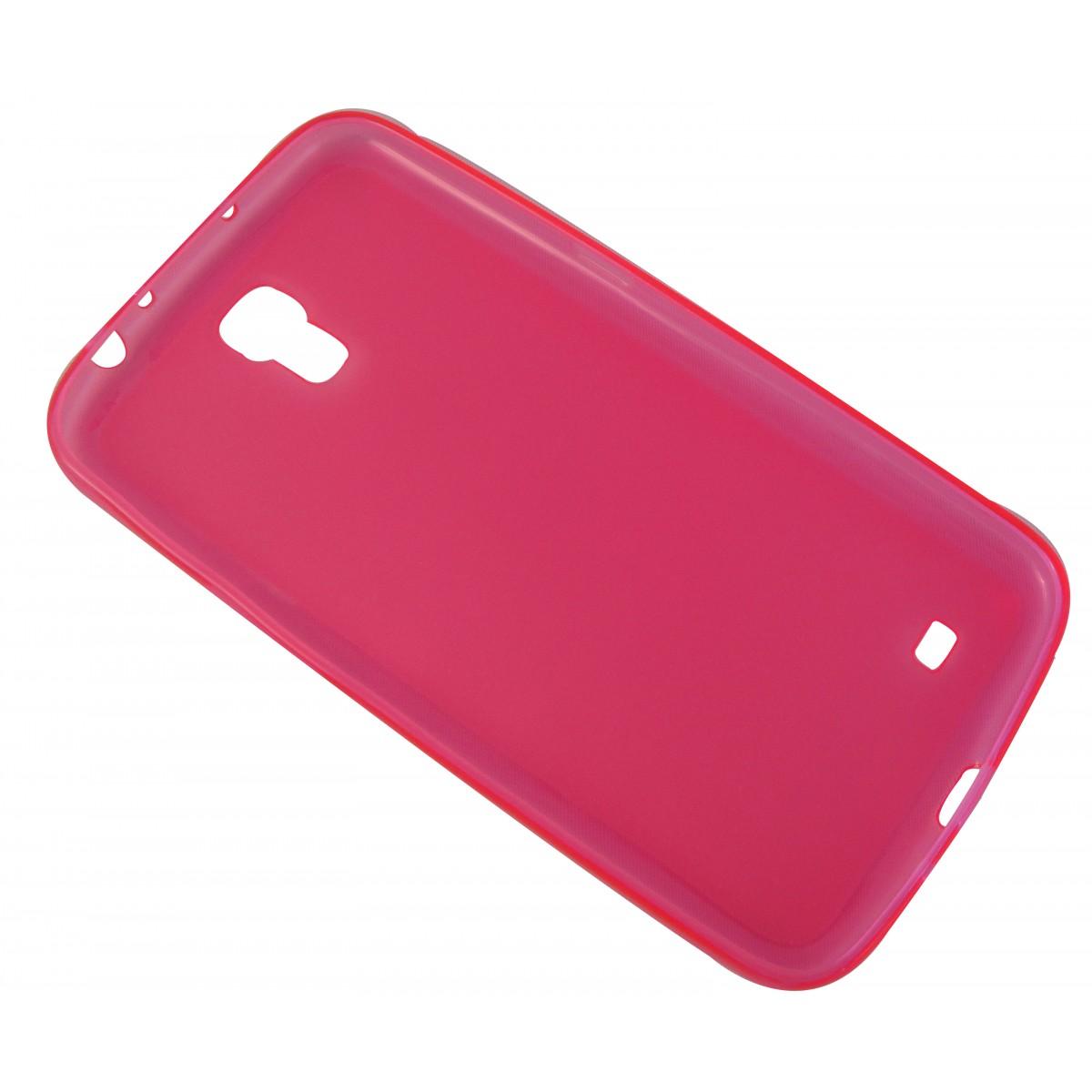 Capa TPU Rosa Samsung Galaxy Mega 6.3 I9200 + Película Flexível