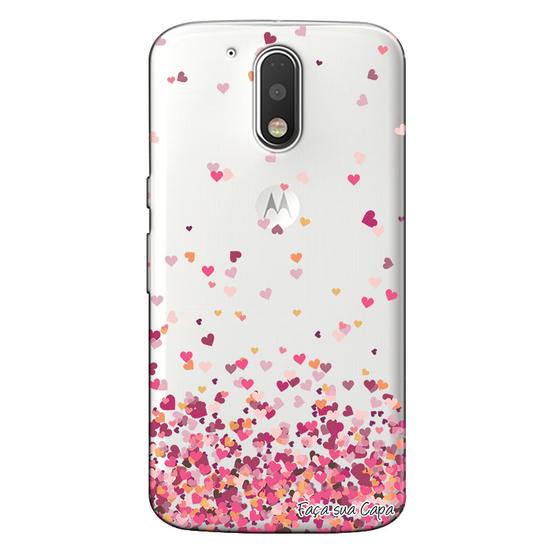 Capa Personalizada para Motorola Moto G4 Plus Corações - TP48