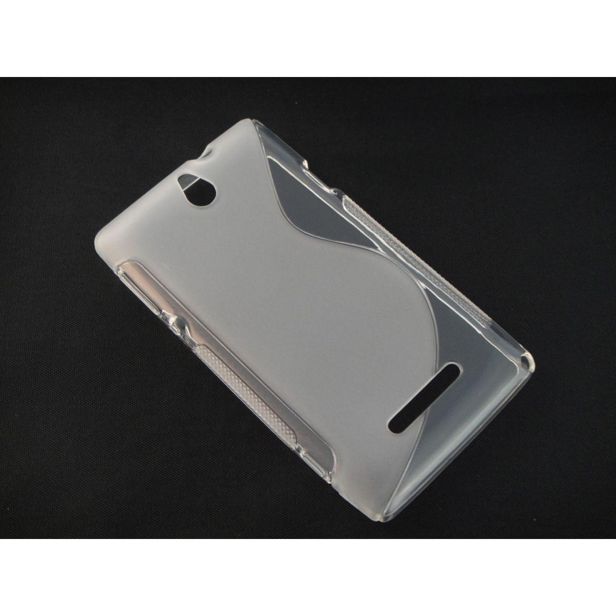 Capa TPU S-Type Transparente Sony Xperia E C1604 C1605 + Película Flexível