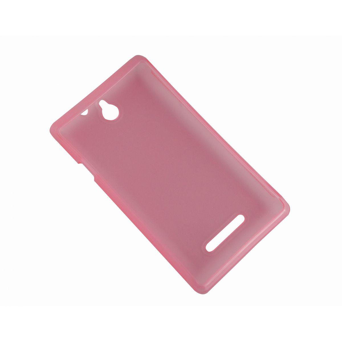 Capa TPU Rosa Sony Xperia E C1604 C1605 + Película Flexível