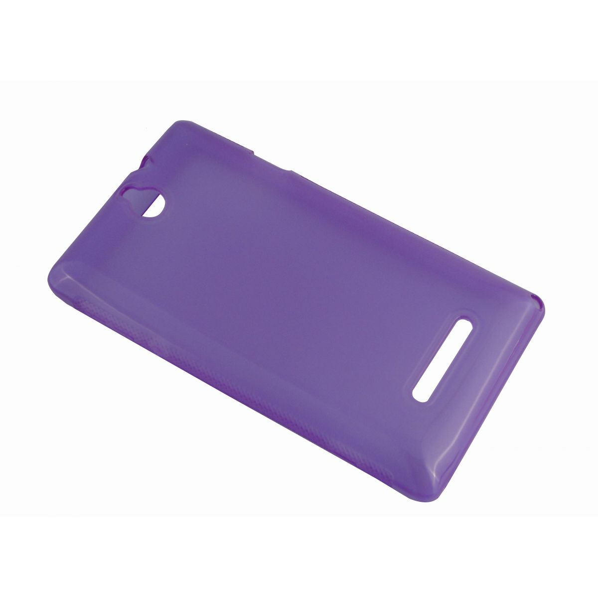 Capa de TPU para Sony Xperia E C1604 C1605 + Pelicula Lilas