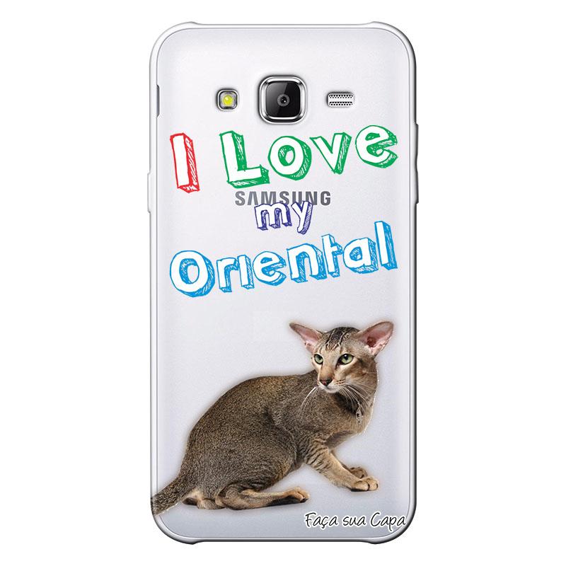 Capa Personalizada para Samsung Galaxy J3 2016 Eu Amo Meu Oriental - TP93