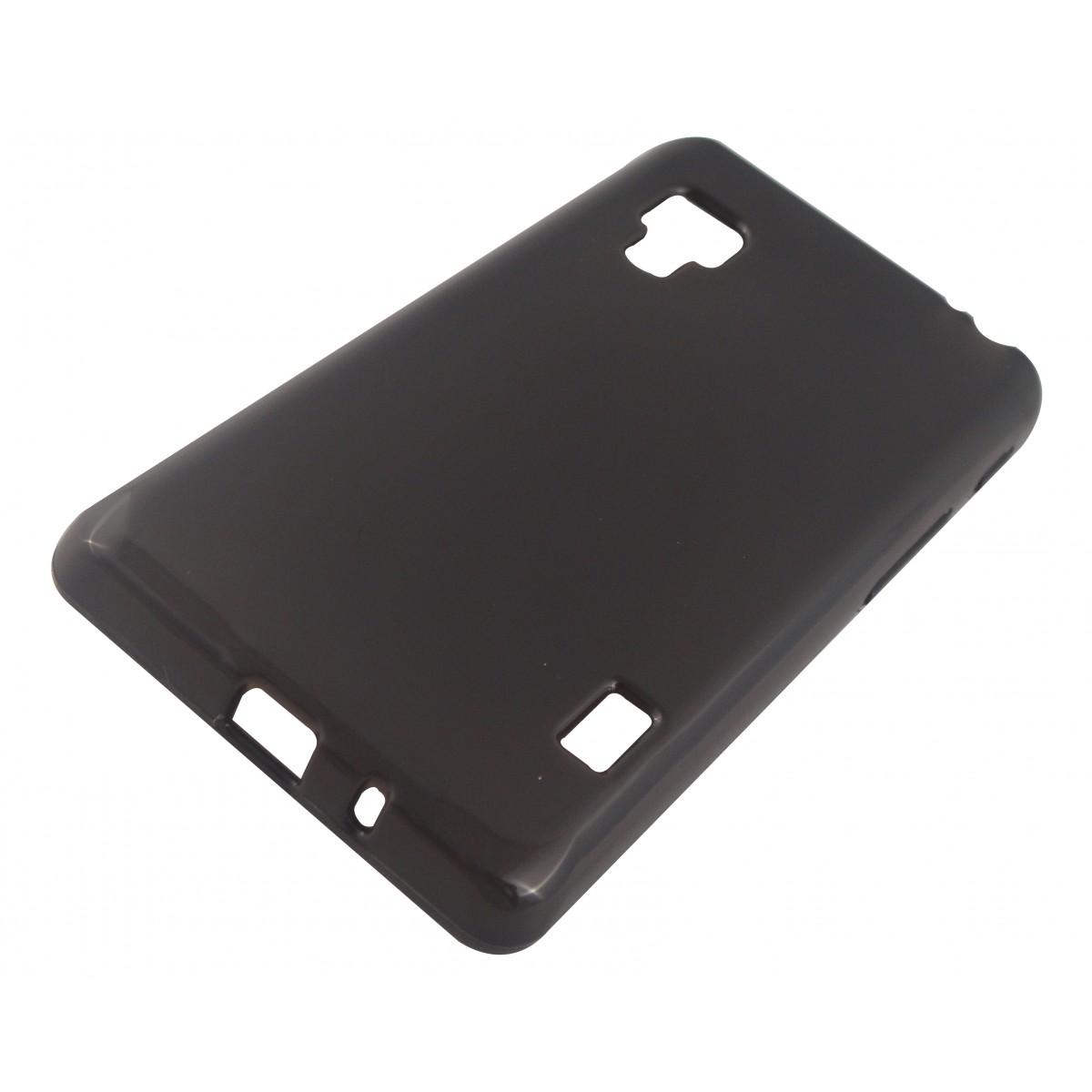 Capa TPU Grafite LG Optimus II L5 E455 + Película Flexível