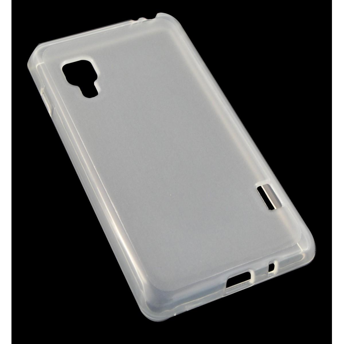 Capa TPU Transparente LG Optimus II L5 E455 + Película Flexível