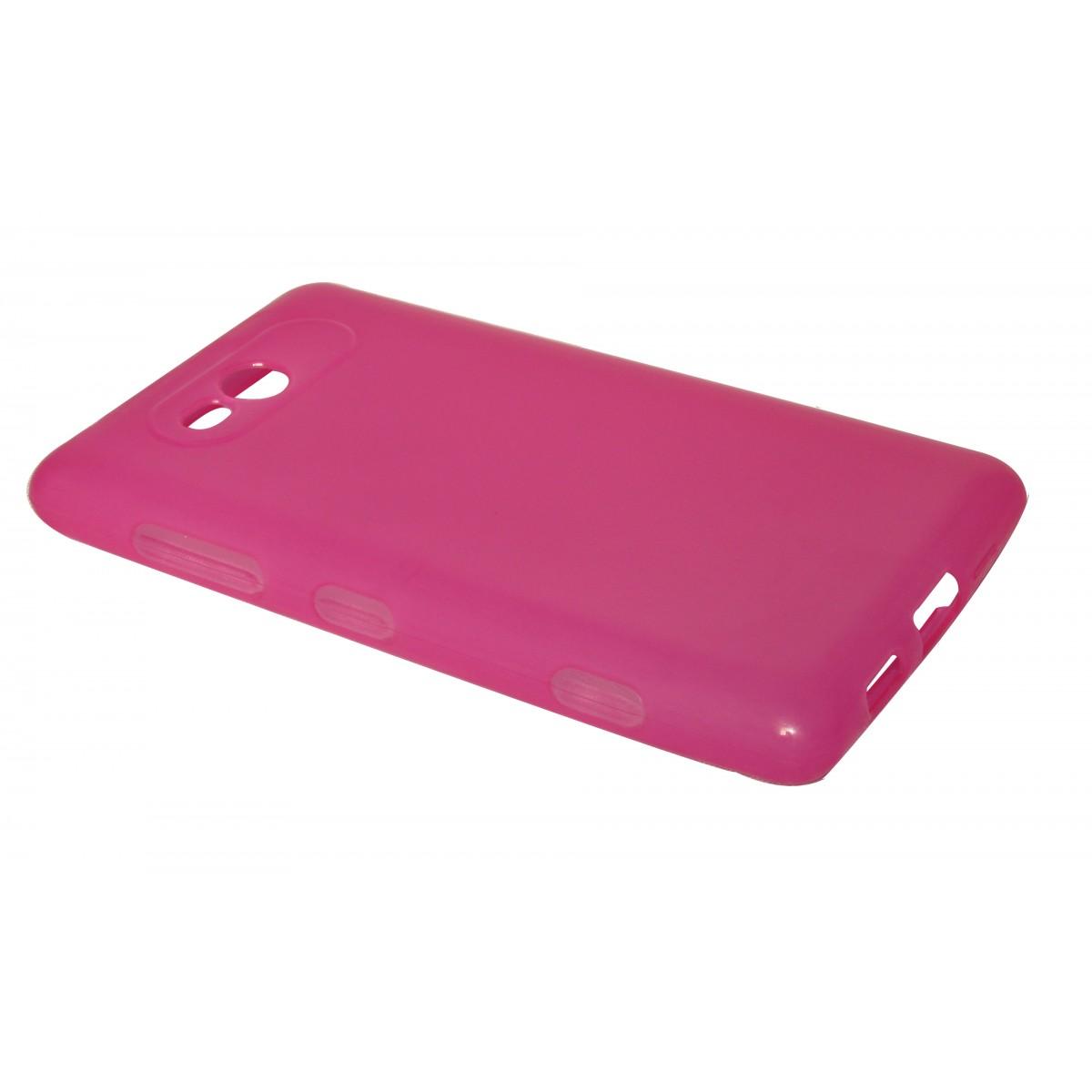 Capa TPU Rosa Nokia Lumia 820 N820 + Película Flexível