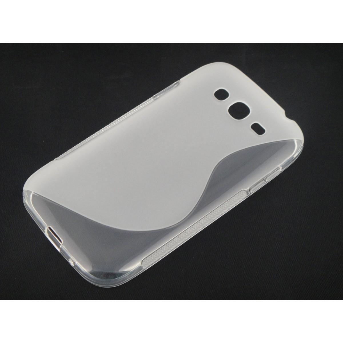Capa TPU S-Type Transparente Samsung Grand Duos i9082 + Película Flexível