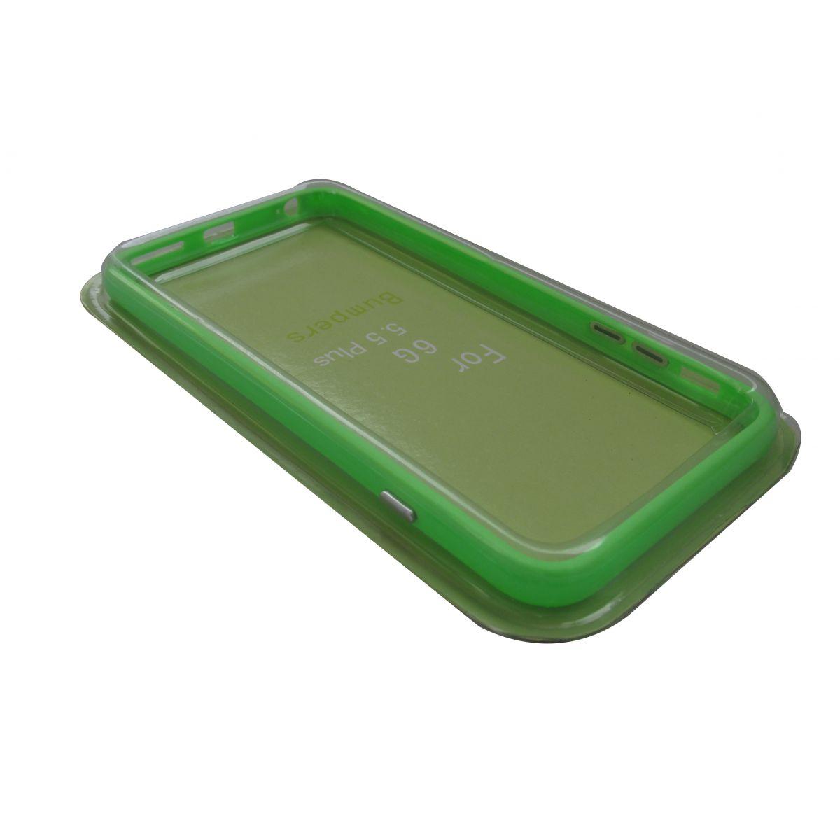 Capa Bumper Iphone 6 Plus + Película Verde
