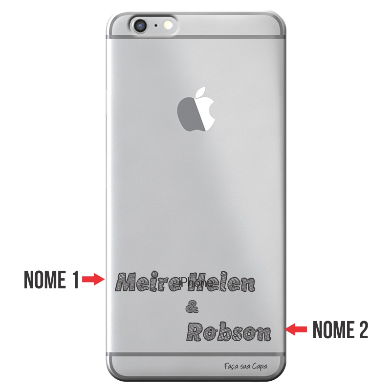 Capa Personalizada com Nome para Apple Iphone 6 6S - NM02