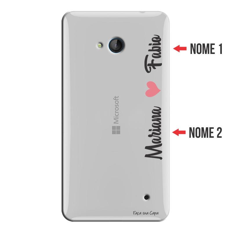 Capa Personalizada com Nome para Microsoft Lumia 640 - NM01
