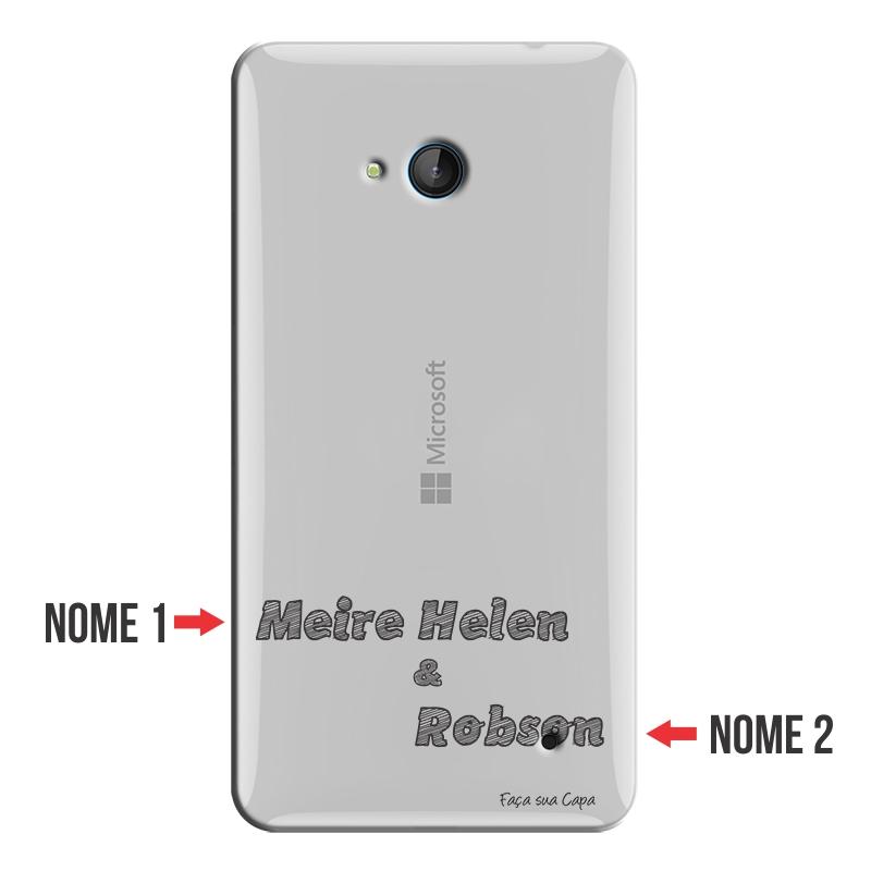 Capa Personalizada com Nome para Microsoft Lumia 640 - NM02
