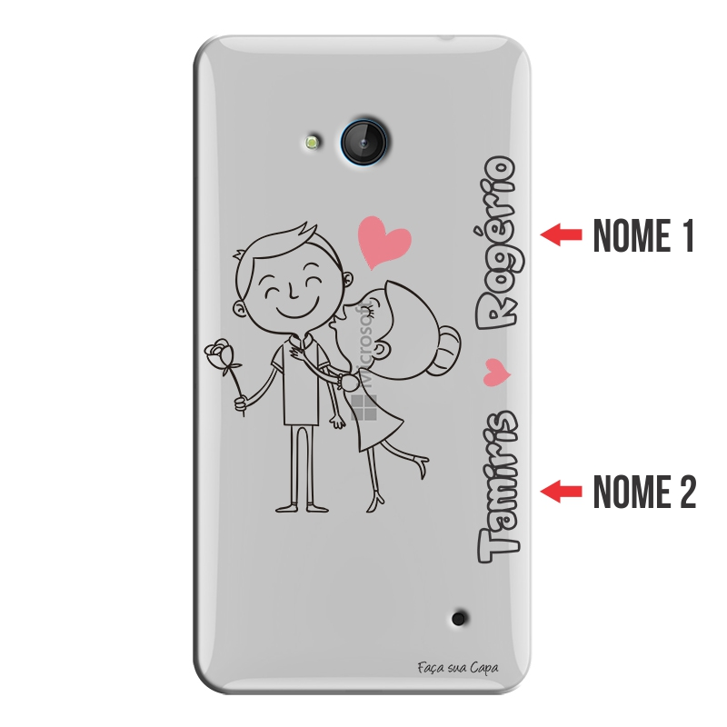 Capa Personalizada com Nome para Microsoft Lumia 640 - NM03