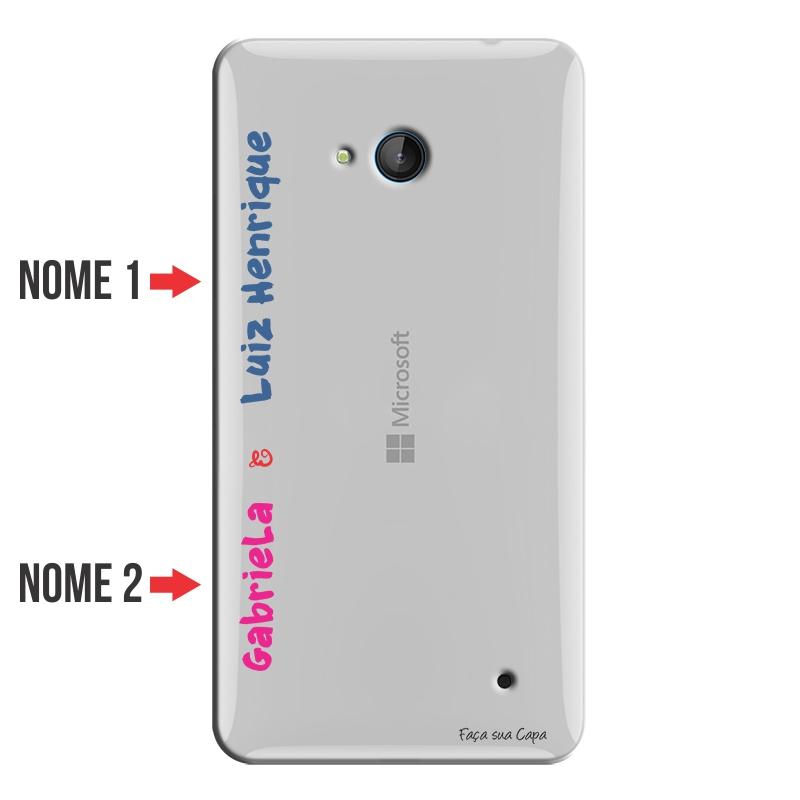 Capa Personalizada com Nome para Microsoft Lumia 640 - NM04