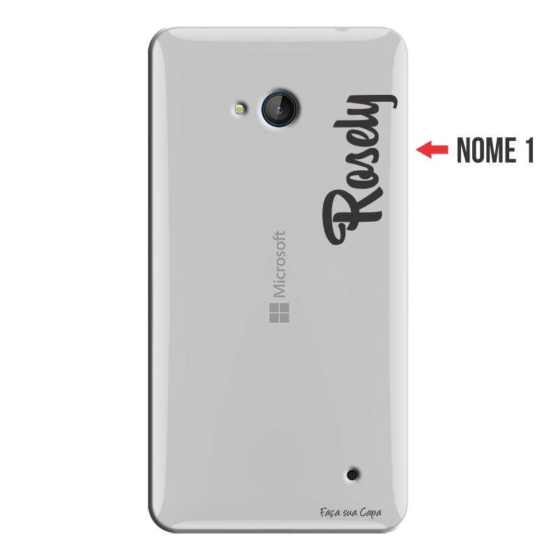 Capa Personalizada com Nome para Microsoft Lumia 640 - NM06