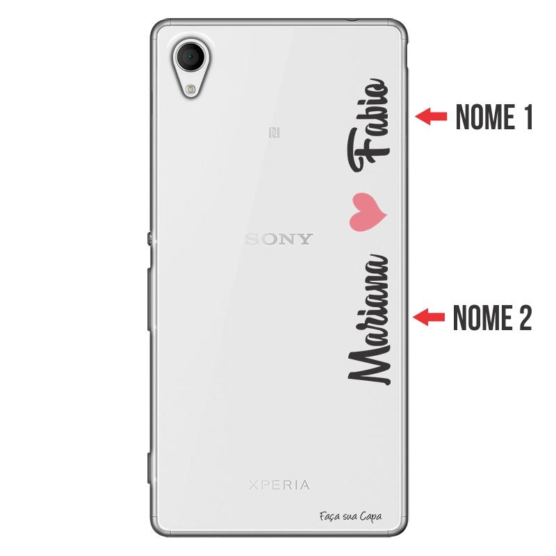 Capa Personalizada com Nome para Sony Xperia M4 - NM01