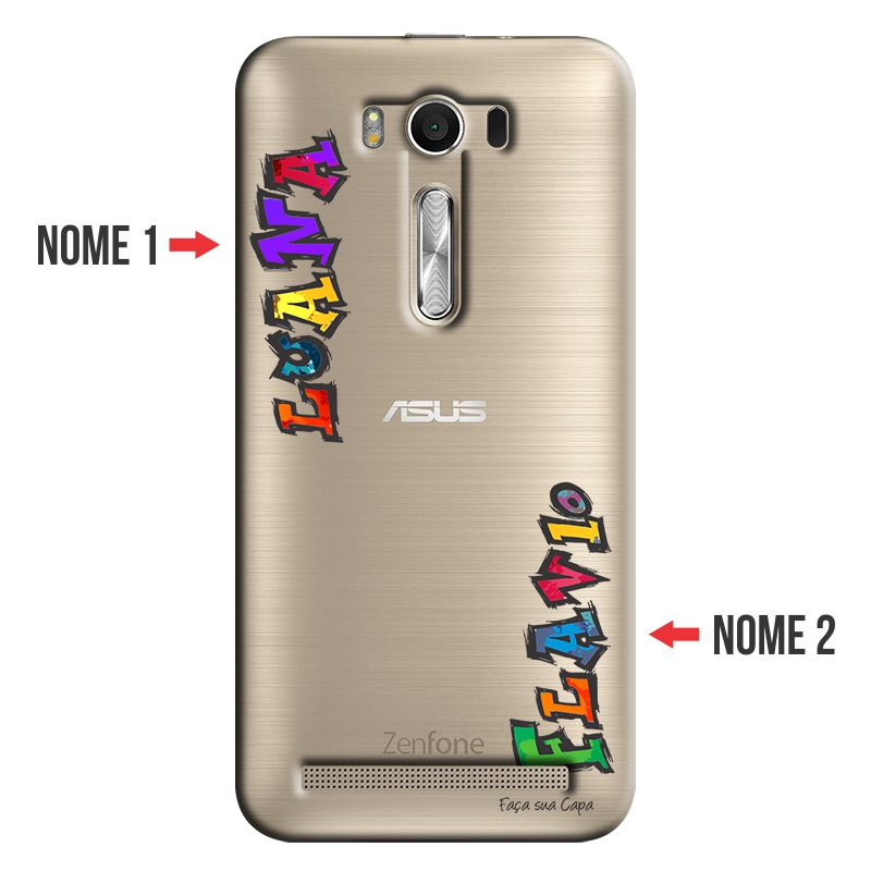 Capa Personalizada com Nome para Asus Zenfone 2 Laser ZE550KL - NM08
