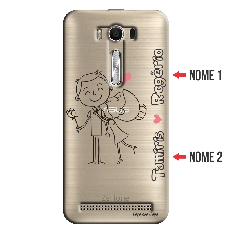 Capa para Celular Transparente com Nome para Asus Zenfone Selfie 5.5 ZD551KL - NM03