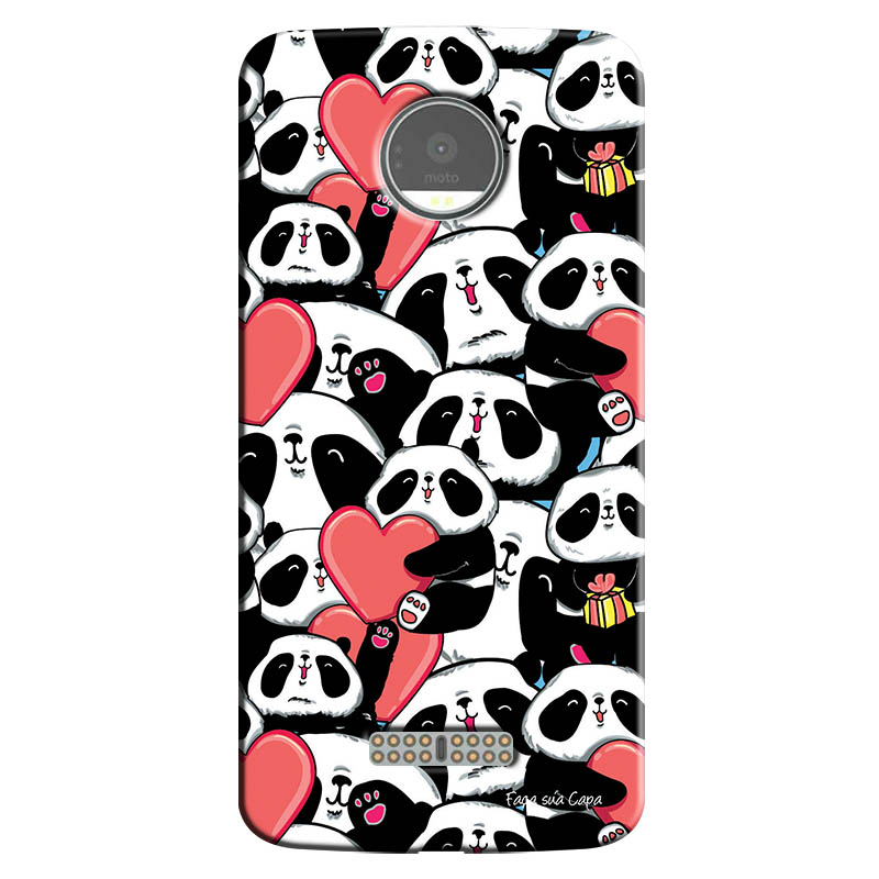 Capa Personalizada para Motorola Moto Z Love Panda - LV21