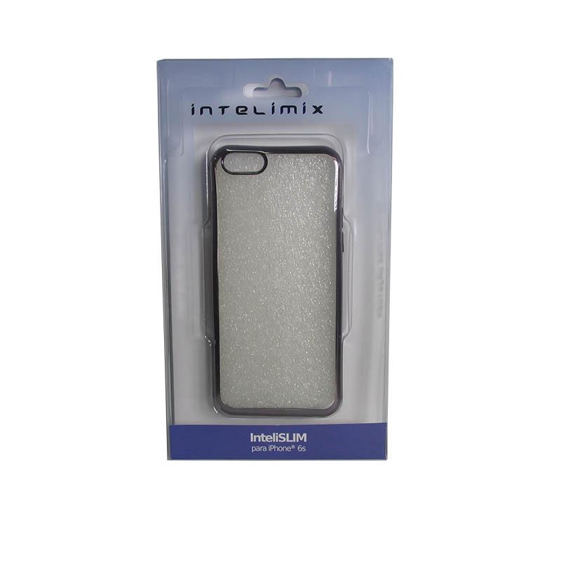 Capa Intelimix Intelislim Acabamento Metalizado Apple iPhone 6 6S - Chumbo