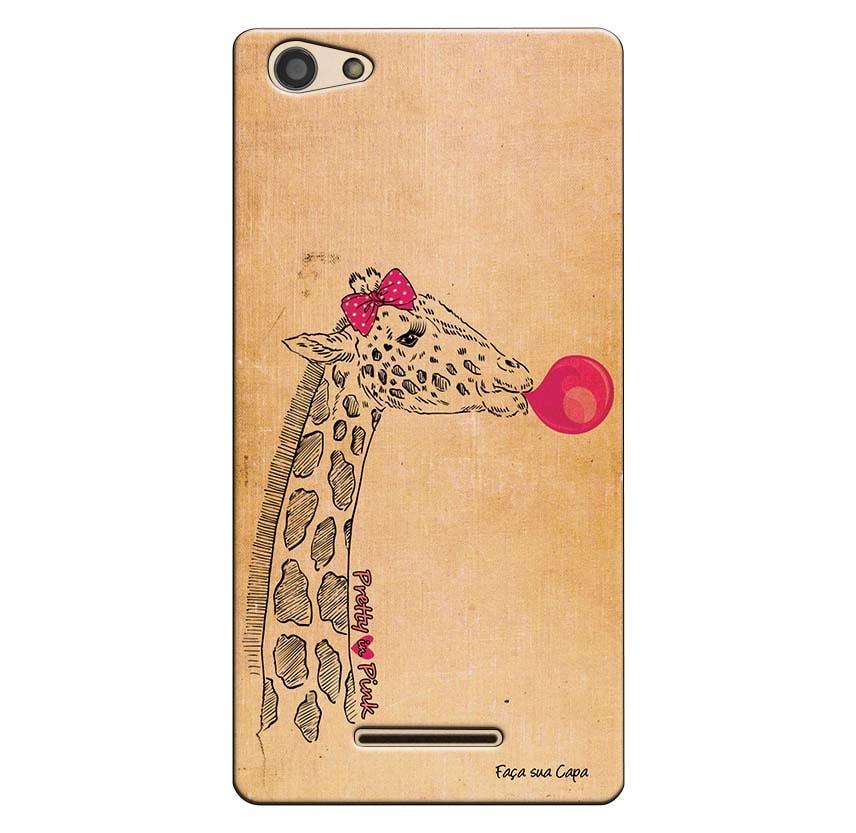 Capa Personalizada para Positivo S455 Selfie Girafa - PE77