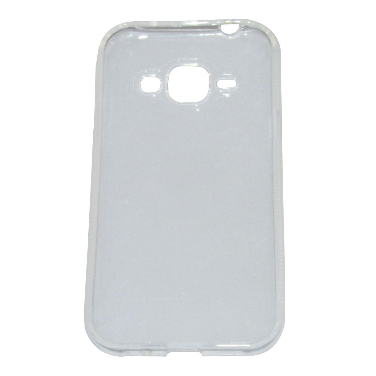 Capa TPU Transparente Samsung Galaxy J1 + Pelicula Flexível