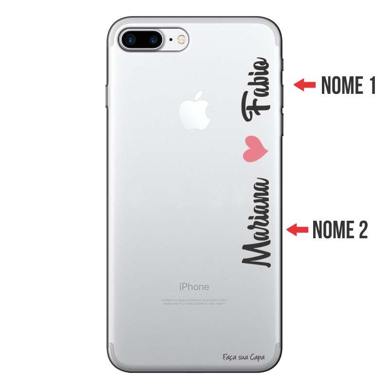 Capa Personalizada Com Nome para Iphone 7 plus - NM01
