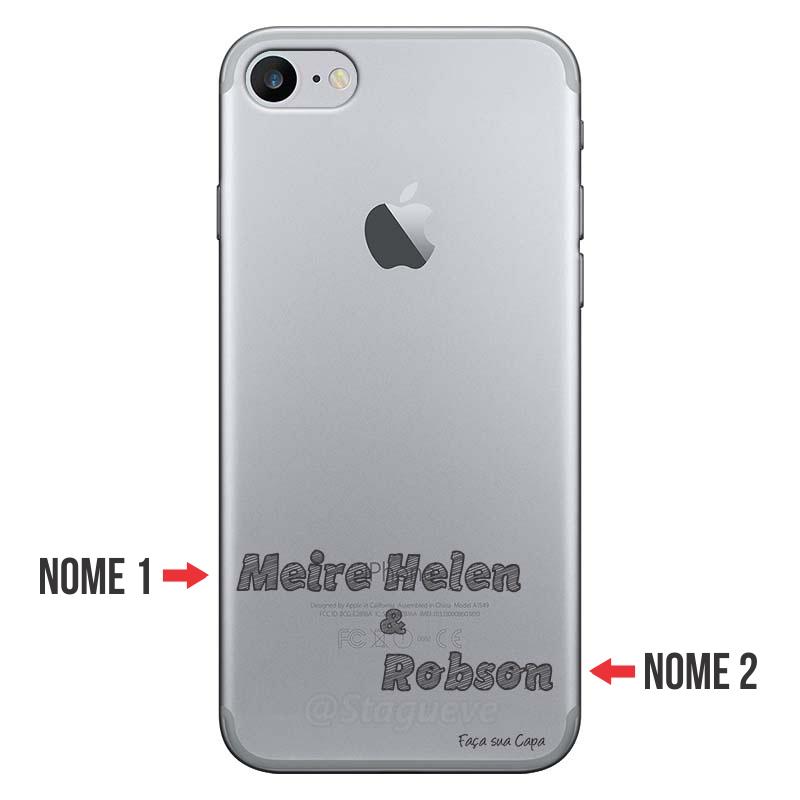 Capa Personalizada Com Nome para Iphone 7 - NM02