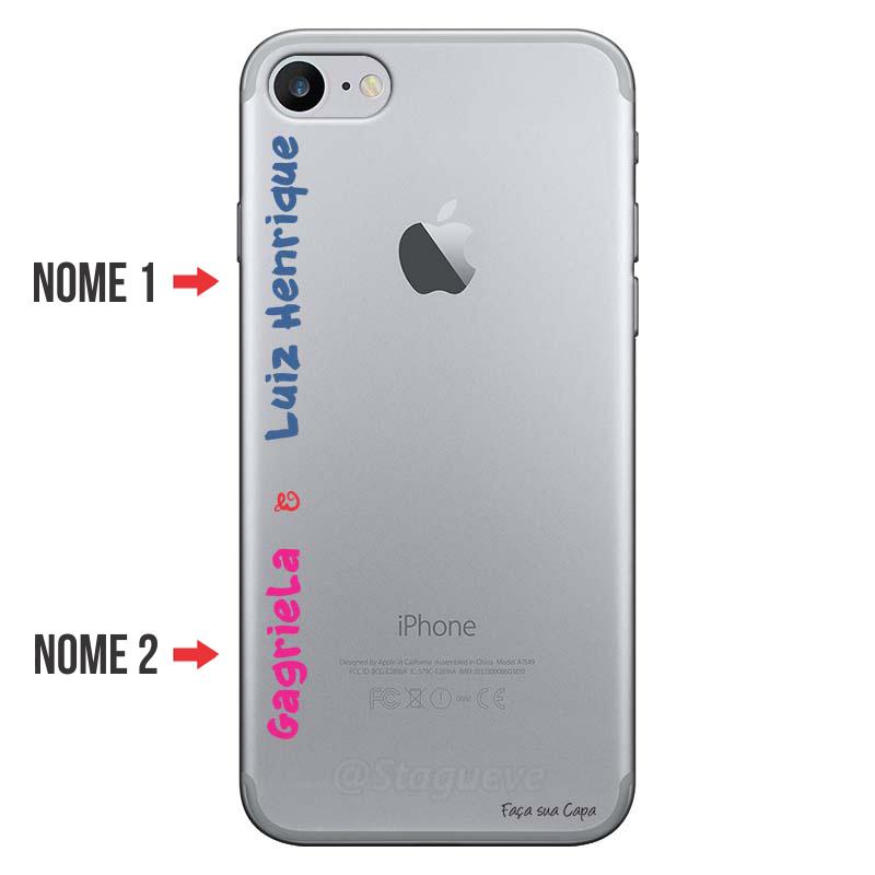Capa Personalizada Com Nome para Iphone 7 - NM04
