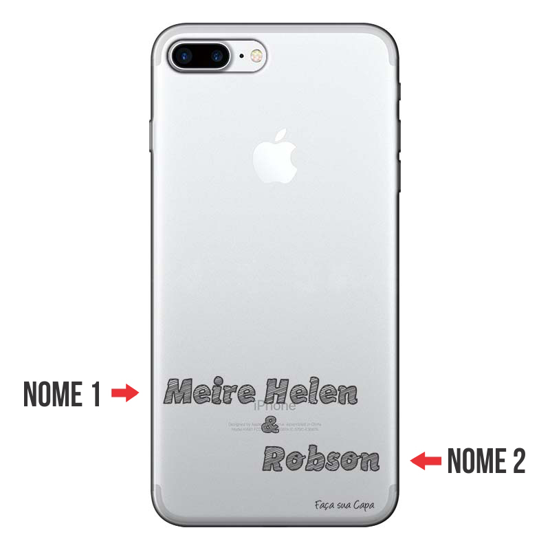 Capa Personalizada Com Nome para Iphone 7 plus - NM02