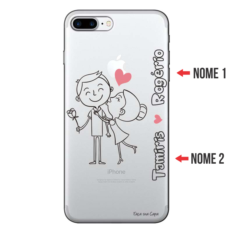 391749316 Capa Personalizada Com Nome para Iphone 7 plus - NM03 - Matecki Commerce