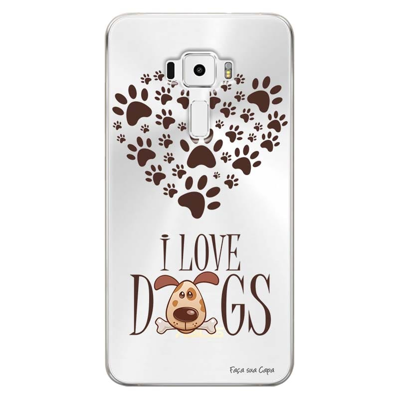 Capa Personalizada para Asus Zenfone 3 5.7 Deluxe ZS570KL I Love Dogs - TP116