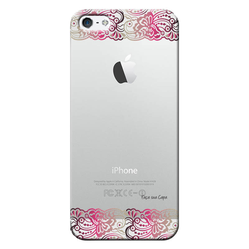 Capa Personalizada para Apple Iphone 5 5S SE Renda - TP295