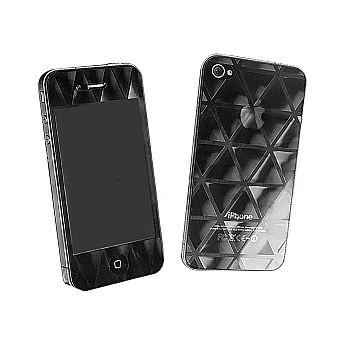 Pelicula Protetora para Apple Iphone 4 4S com Relevo em 3D Frente e Verso - Triangulos