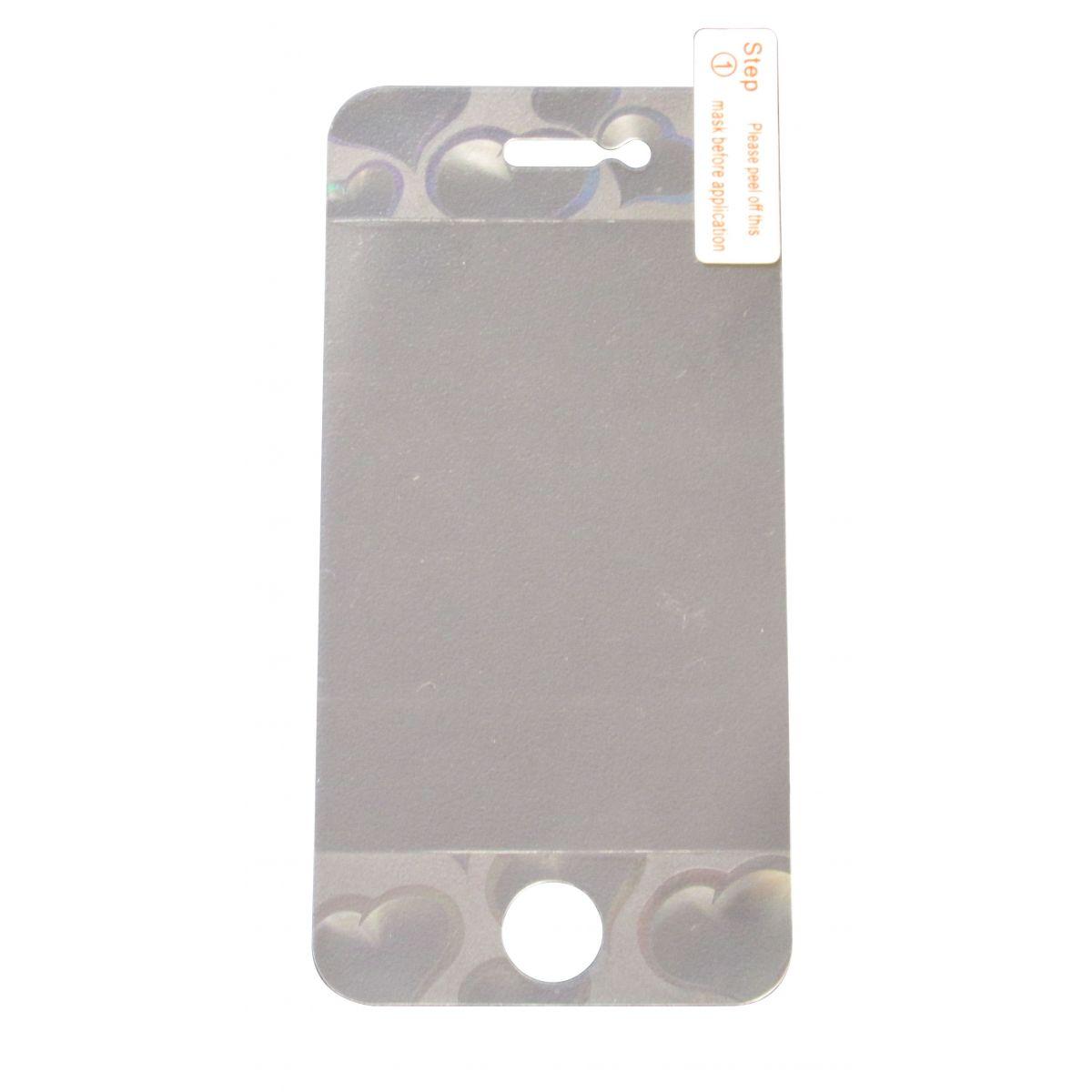 Pelicula Protetora para Apple Iphone 4 4S com Relevo em 3D Frente e Verso - Corações