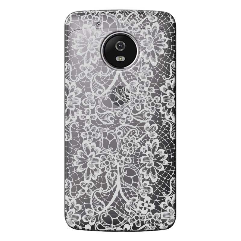 Capa Personalizada para Motorola Moto G5 XT1676 Renda branca - TP283