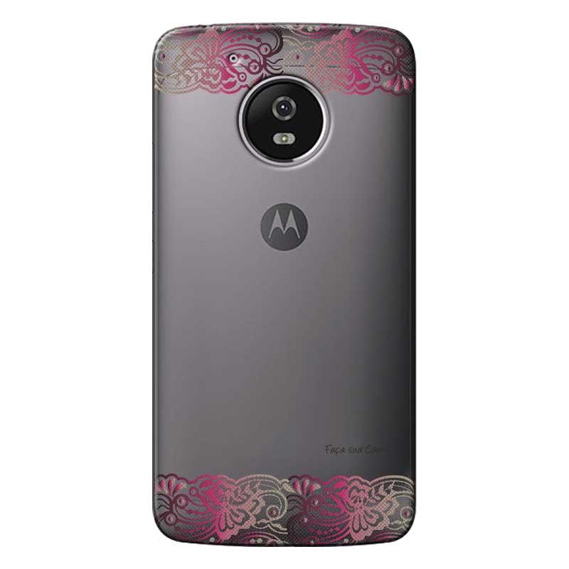 Capa Personalizada para Motorola Moto G5 XT1676 Renda - TP295