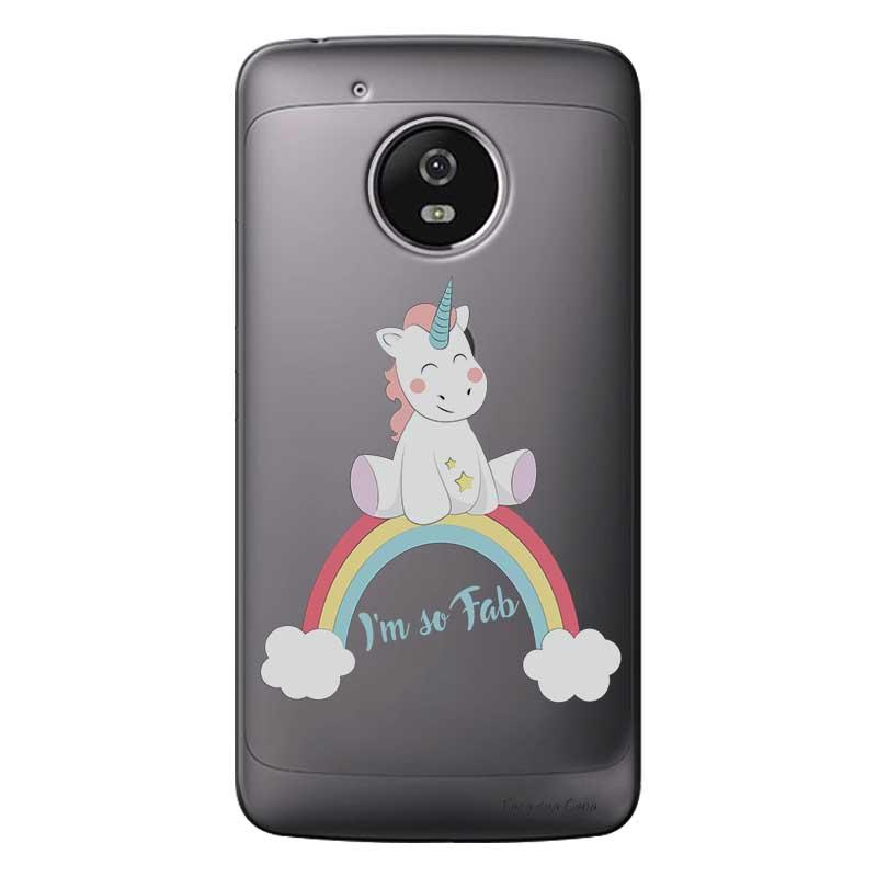 Capa Personalizada para Motorola Moto G5 XT1676 Baby Unicórnio - TP312