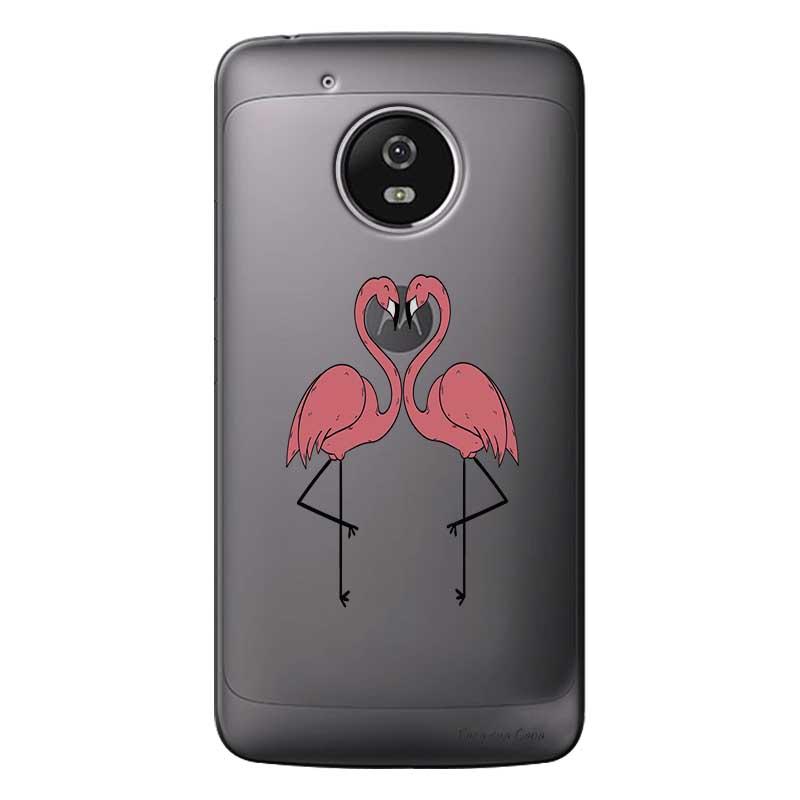 Capa Personalizada para Motorola Moto G5 XT1676 Casal Flamingos - TP316