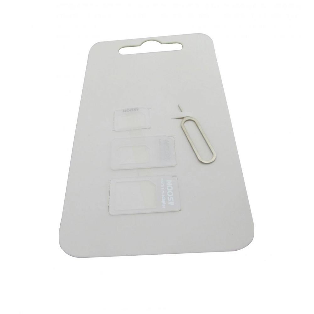 Adaptador de chip Micro SIM e Nano SIM  chave PIN - Noosy