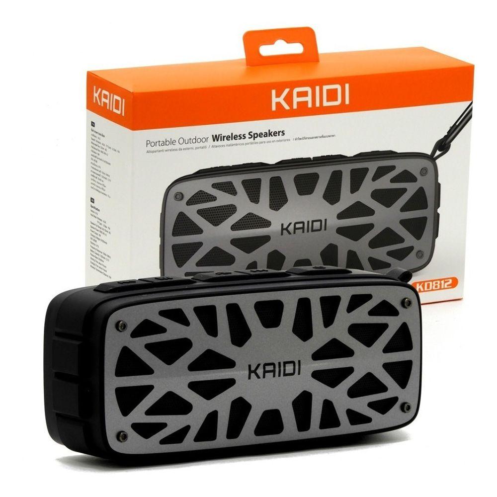 Caixa de Som Portátil Bluetooth Kaidi KD812 - Prata