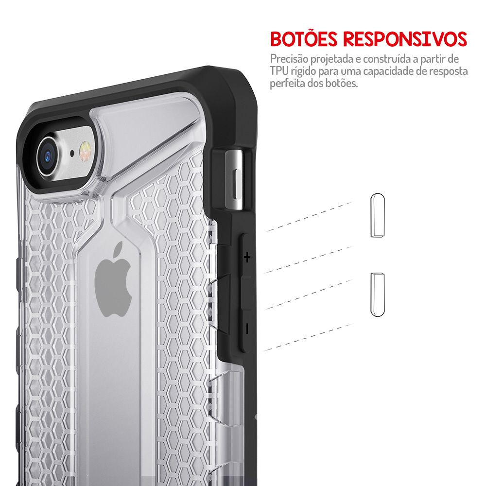 Capa Antishock Armor Plus Apple iPhone 7/8 - Transparente